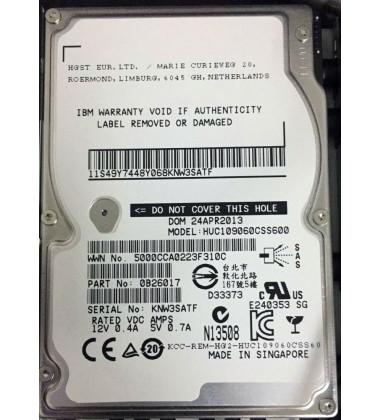 "HUC109060CSS600 HDD IBM 600GB 10K 6G 2,5"" SAS para storage Storwize V7000"