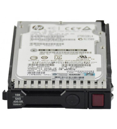 785101-B21 | HPE 450GB SAS 12G Enterprise 15K SFF (2.5in) ST 3yr Wty HDD foto frontal superior
