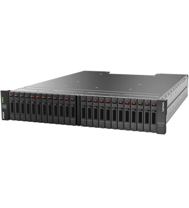 Foto frontal gabinete SFF Lenovo ThinkSystem DS6200 Storage Array FC/iSCSI PN: 4619A11