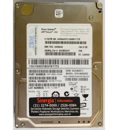 44V6845 HD IBM 146 GB 15K 6G 2,5'' SAS Power Systems AIX/Linux - 512 pronta entrega