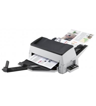 fi-7600 foto lateral com painel a mostra em produção e todas bandejas bem abertas