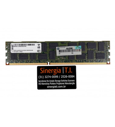 672631-B21 Memória RAM HPE 16GB DDR3-1600 MHz ECC Registrada para Servidores Gen8 DL160 DL360e DL360p DL380e DL380p DL580 ML350e ML350p