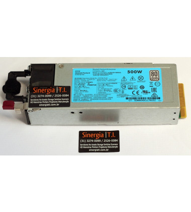 HSTNS-PL40 Fonte HPE 500W Servidores ProLiant DL360 DL380 ML350 Gen9 pronta entrega
