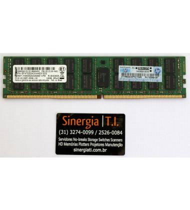 Memória RAM HPE 16GB para Servidor ML350 Gen9 2133 MHz DDR4 Dual Rank x4 pronta entrega