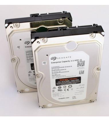 ST2000NM0055 PN: 1V4104-002 HD Seagate 2TB 128MB cache SATA-3 6G Linha Enterprise 24X7 foto com dois