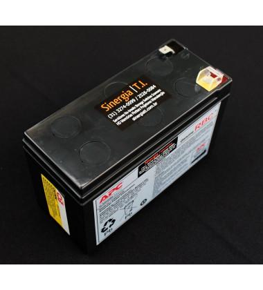Bateria para manutenção em No-Breaks APC APCRBC110 BZ600-BR lateral esquerda