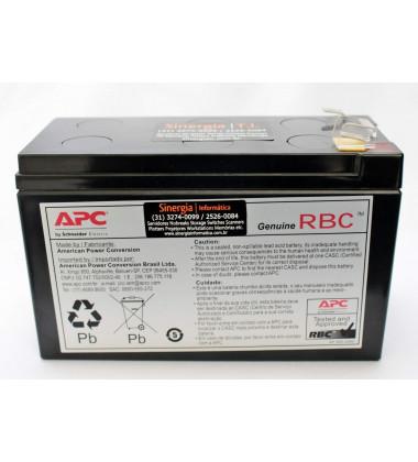 Bateria para manutenção em No-Breaks APC BE600  frontal