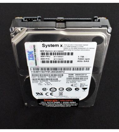 ST91000640SS HDD IBM SAS 2,5 Polegadas 1TB 7200 RPM 9RZ268-039 vertical