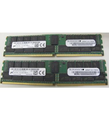Foto de duas Memórias RAM 32GB DDR4 2400 MHZ Registrada ECC Supermicro