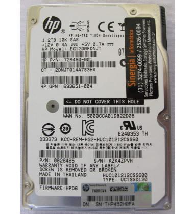 730704-001 | HPE 1.2TB SAS 6Gb/s Enterprise 10K SFF (2.5in) HDD Hot-Plug foto etiqueta