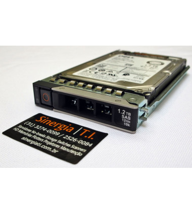 "HD Dell 1.2TB SAS 12Gbps 10K RPM para Servidor R740xd SFF 2,5"" pronta entrega"