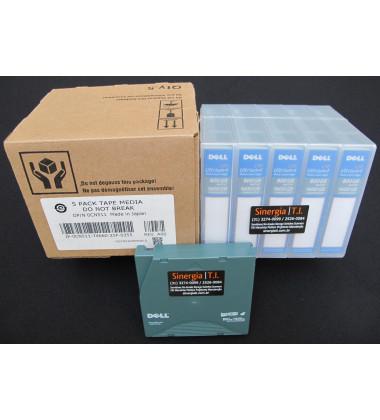Fita de Dados LTO-4 Ultrium 4 Data Cartridge 800GB/1.6TB Dell Código do Fabricante : XW259 | Código Dell : 341-4641 foto caixas papelão pack 5 mídias