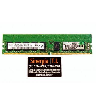797259-091 Memória HPE 16GB (1x16GB) Dual Rank x8 DDR4-2133 para Servidor ML30 DL20 Gen9 frontal