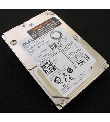 "400-APGL | Dell 900GB SAS 12 Gbps HD para Servidor 15,000 RPM 512n SSF (2.5"") HDD NMJD8 frontal superior"