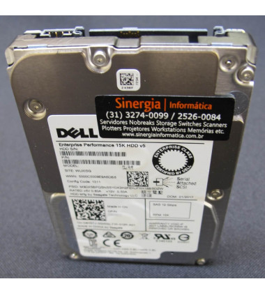"400-AJRF Dell 600GB SAS 12Gbps Enterprise 15K RPM SFF 2.5"" HDD Y06G3 pronta entrega"