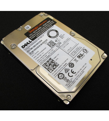 400-ATIV | Dell 900GB SAS 12Gbps Enterprise 15,000 RPM SFF (2.5in) HDD 0K1PG perfil frontal