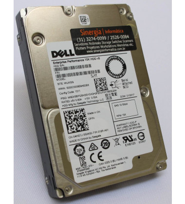 400-ATIU | Dell 900GB SAS 12Gbps Enterprise 15,000 RPM SFF (2.5in) HDD WP4Y3 perfil 2
