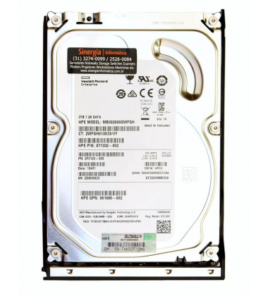 862132 HPE 2TB SATA 6G Midline 7.2K LFF (3.5in) LP Digitally Signed Firmware HDD Label