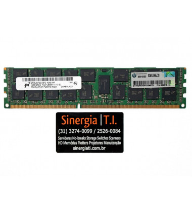 684066-B21 Memória RAM HPE 16GB DDR3-1600 MHz ECC Registrada para Servidores Gen8 DL160 DL360e DL360p DL380e DL380p DL580 ML350e ML350p capa
