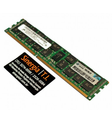 Memória RAM HPE 16GB Para Servidor DL385 G7 Dual Rank x4 PC3-12800R DDR3-1600 MHz ECC pronta entrega