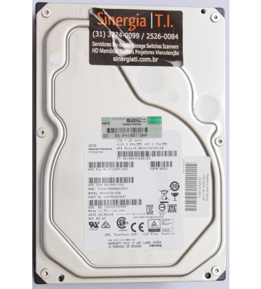 "872295-003 HD HPE 1TB SATA 6G Entry 7.2K LFF 3.5"" RW 1yr Wty P/N em estoque"