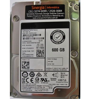 ST600MP0036 | HD Seagate 600GB SAS 12Gbps Enterprise 15000 RPM SFF (2.5in)