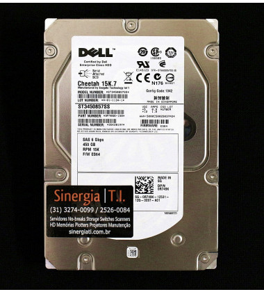 ST3450857SS | HD Dell 450GB SAS 6Gb/s Enterprise 15K LFF (3.5in) Hot-Plug frontal
