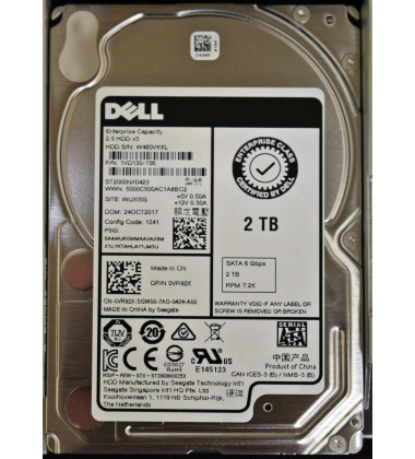"0VR92X HD Dell Enterprise 2TB 2.5"" SATA 6 Gbps 7.2K"