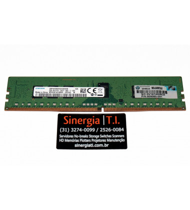 819410-001 Memória HPE 8GB (1 x 8GB) Single Rank x8 DDR4-2400 CAS-17-17-17 Registrada para Servidores
