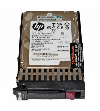 693569-003 10K SAS 600GB HPE 12G Enterprise 10K SFF (2.5in) para Storage MSA front