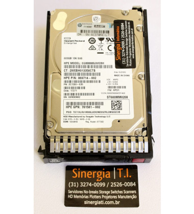 "781581-002 10K SAS 600GB HD HP 12G Enterprise 10K SFF 2.5"" foto caixa original para Servidor HPE ProLiant DL360, DL380, DL360p, DL120, DL160, DL180, DL320e, DL360e, DL380p, DL385p, DL560, DL580, ML110, ML310e V2, ML350e V2, ML350p Gen8 pronta entrega"