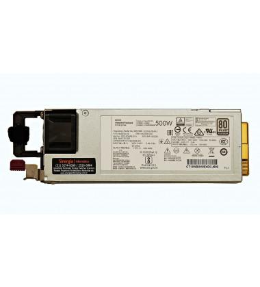 GPN: 865398-001 | Fonte HPE 500W Servidores ProLiant ML30 ML350 DL360 DL380 Gen10 label