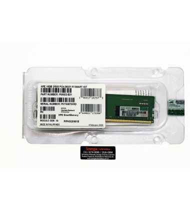 HPE 16GB 2RX8 PC4-2933Y-R Smart Kit memória para Servidor DL360 DL380 ML350 Gen10 Part Number: P00922-B21