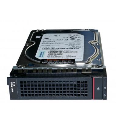 "03X3795 HD Lenovo ThinkServer 2TB 7.2K 3.5"" Enterpise 6Gb SATA Hot Swap RD640 RD540 RD440 RD340 TD340 TS440 Option front"