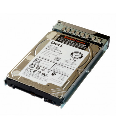 "0TMVN7 HD Dell 2TB 7.2K NL SAS 12Gbps 2.5"" para PowerEdge R740 lateral"