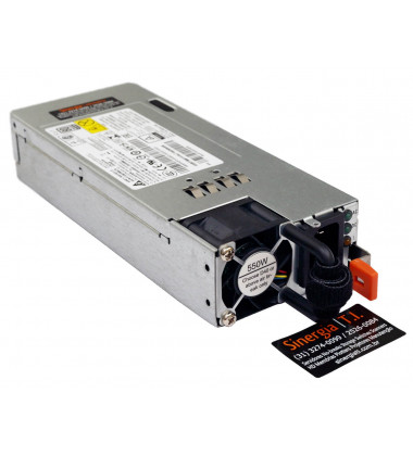 00HV224 Fonte Redundante Lenovo 550W Hot Swap Para Servidores Think Server RD550 RD650 TD350 RD450 RD350 esquerda FRU P/N:  Switching Power Supply Fonte de alimentação chaveada