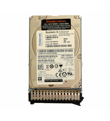 "Lenovo P/N: 00NA255 HD Lenovo 900GB 10K 2.5"" SAS 12Gb FRU Hot Swap System X 3550 3650 M5 pronta entrega"