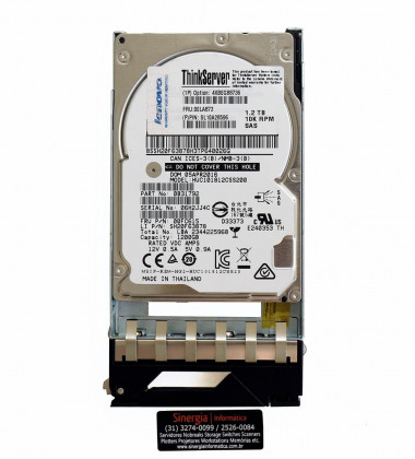 "4XB0G88736 HDD Lenovo ThinkServer Gen 5 1.2TB 10K 2.5"" SAS Hot Swap Hard Drive Option: TD350 RD350 RD450 label"