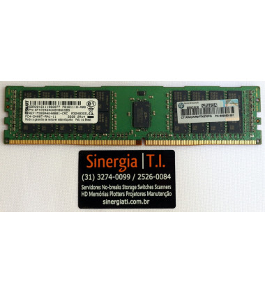 Memória RAM HPE 32GB para Servidor DL160 Dual Rank x4 DDR4-2400 Registrada Gen9 pronta entrega