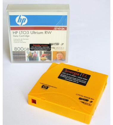 foto fita de dados HP LTO3 C7973A frontal