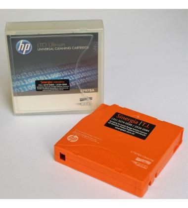 foto  frente fita limpeza HP LTO C7978A