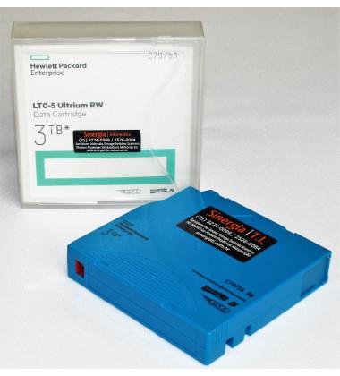 C7975A Fita mídia de dados HP Ultrium LTO-5 1.5/3TB foto com a capa