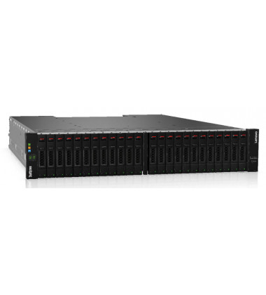 Foto frontal perfil gabinete SFF Lenovo ThinkSystem DS4200 Storage Array FC/iSCSI PN: 4617A31