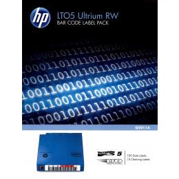 Kit de Etiquetas de Código de Barras HP Q2011A para Fitas LTO-5 Ultrium