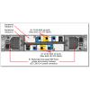Foto traseira da unidade de expansão Lenovo ThinkSystem DS2200 Storage Array SFF FC/iSCSI PN: 4599A11 - 43.2TB