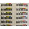 Foto close com várias etiquetas kit de Etiquetas de Código de Barras HP Q2009A para Fitas LTO-4 Ultrium Bar Code Label Pack