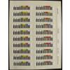 Foto da cartela do kit de Etiquetas de Código de Barras HP Q2009A para Fitas LTO-4 Ultrium Bar Code Label Pack