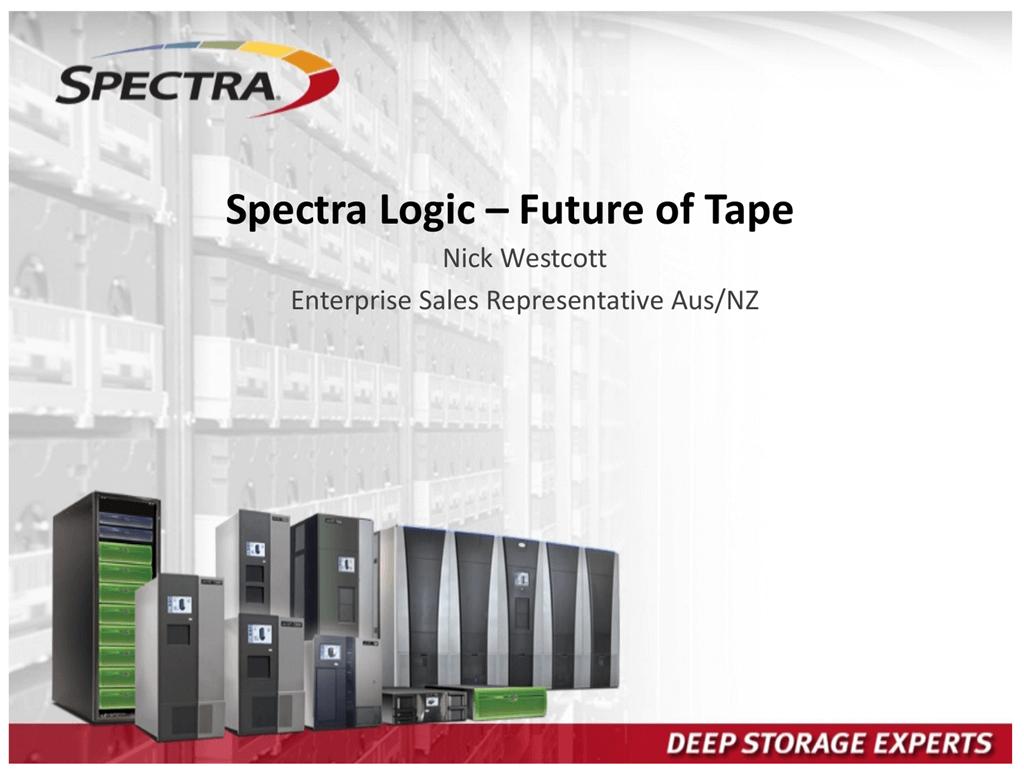 Spectra Logic T50e T120 T200 T380 T680 T950