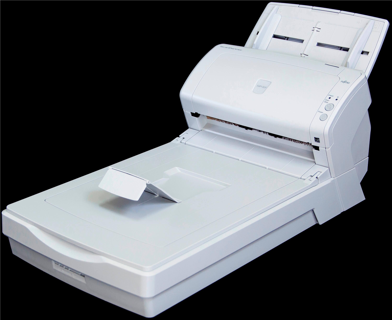 SP30F ScanPartner Scanner Fujitsu foto flatbed fechado