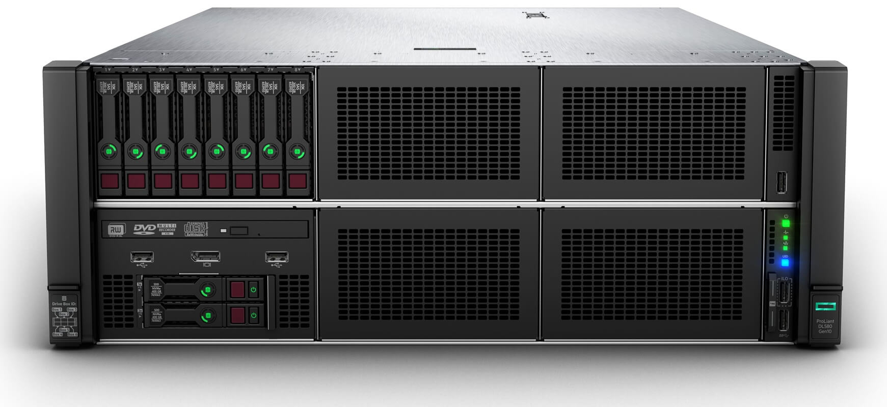 DL580 Gen10 | Servidor HPE ProLiant 2P Gold 6152 64GB P408i-a 4x160800W PS